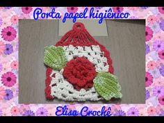 Jogo de banheiro rosa vermelha : Tapete da pia # Elisa Crochê - YouTube
