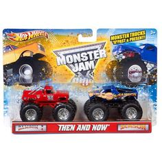 Hot Wheels Monster Jam Then and Now Trucks, 2-Pack, Assorted