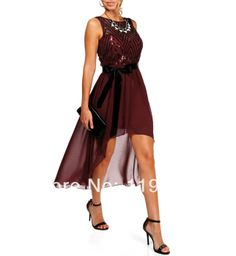 New 2014 custom made moden A-line strapless red chiffon cheap formal dresses for prom/wedding/brides/party/homecoming $90.00