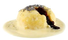 Germ Knödel mit Vanille Sauce Rezept Cupcake Cakes, Cupcakes, Camembert Cheese, Panna Cotta, Cooking, Ethnic Recipes, Desserts, Food, Guys