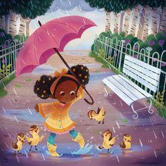 Children's Book Illustration, Character Illustration, Kid Character, Character Design, Rainy Day Drawing, Mode Poster, Cafe Art, Whimsical Art, Oeuvre D'art
