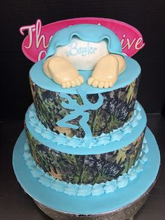 Camouflage Baby Shower Cake