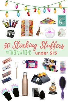 50 Stocking Stuffers für Teens / Tweens - Crafts For Boys Stocking Stuffers For Teens, Christmas Stocking Stuffers, Christmas Gifts, Santa Gifts, Christmas Wrapping, Christmas Time, Christmas Ideas, Stocking Ideas, Holiday Time