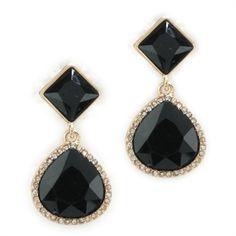 Anne Klein Double Drop Pavé Earrings #VonMaur