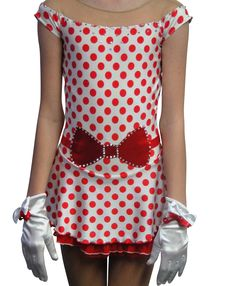 www.sk8gr8designs.com Sk8 Gr8 Designs, custom vintage 50's figure skating dress, love the polka dots!