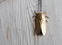 Cicada Necklace  Christmas Gifts Under 25  Handmade by SPARKLEFARM