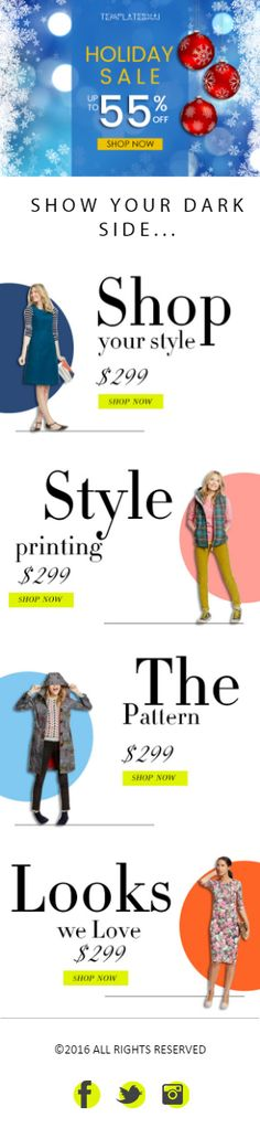 The Best ECommerce EMAIL Templates Images On Pinterest Email - Best ecommerce email templates