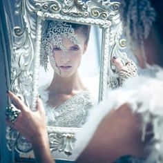 snow queen portrait mirror mirror on the wall who is the fairest of them all?