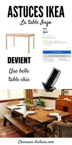 La table INGO- transformée en table rustique