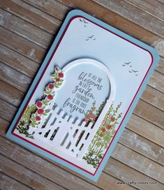 Today I am sharing a card made using the Grace's Garden stamp set and co-ordinating Garden Gateway dies, the flowers are gorgeous and I love the gate. Garden Front Of House, Garden Gates, Garden Crafts, Raised Garden Beds, Stamping Up, Small Flowers, Flower Cards, Garden Planning, Stampin Up Cards