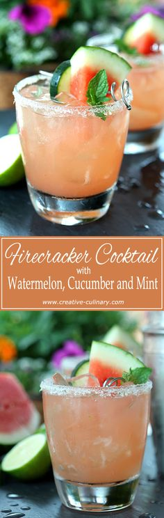 Not just for the 4th of July; The Firecracker is fantastic all summer long with Watermelon, Lime and Cucumber! via @creativculinary