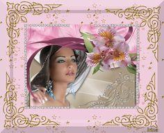 women,flower,diamond card