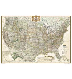 Buy United States Map Mural Classic In Large Size World Map - Large us map