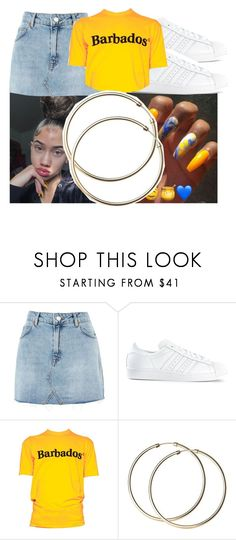 """""""S A L T S H A K E R S"""" by arleenax ❤ liked on Polyvore featuring Topshop, adidas and Dsquared2"""