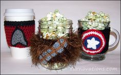 For movie night...free Star Wars Chewbacca crochet pattern and kettle corn recipe!
