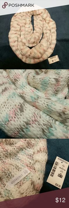 Knitted scarf aeropotale Brand new knitted scarf with pretty soft pastel colors. A Perfect gift for someone. Aeropostale Accessories Scarves & Wraps