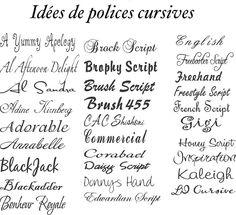 dessin-tatouage-polices-écriture-cursives