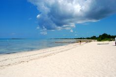 Paradise Cove, Freeport, Bahamas! I almost drowned on this beach, so BEWARE, lol.