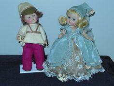 Vintage Vogue Ginny Doll Set  Cinderella & Prince Charming 1951 A/O