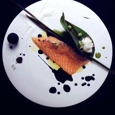 Salmon.Black.Lemon #food #chefsofinstagram #chef #bahrain #restaurant…