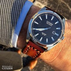 Theres really no better way to complete such a look without a timeless #Citizen watch. : @dilbertwatkins by citizenwatchus