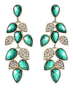 Love this Turquoise & Crystal Milly Drop Earrings by Amrita Singh on #zulily! #zulilyfinds