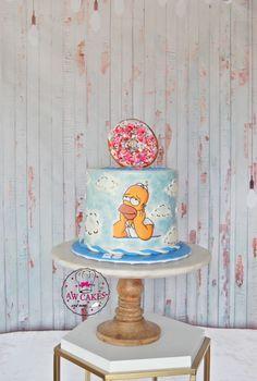custom cakes in Orlando Bolo Simpsons, Simpsons Party, Simpson Cake, Homer Simpson, 50th Birthday, Birthday Parties, Birthday Cake, Cake Gallery, Pretty Cakes