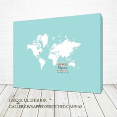 A holiday trip an unexpected romance by marcie forest on etsy wed world map guestbook wrapped canvas 20x24 inches more sizes available destination wedding gumiabroncs Image collections