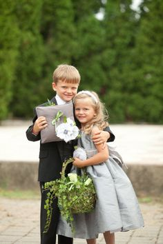 Presh pic of ring bearer and flower girl <3