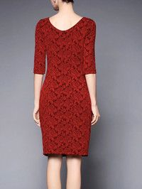 Gathered Polyester Knee Length dress