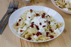 Makaron z twarogiem, boczkiem i śmietaną. Cauliflower, Mashed Potatoes, Oatmeal, Vegetables, Breakfast, Ethnic Recipes, Blog, Whipped Potatoes, The Oatmeal