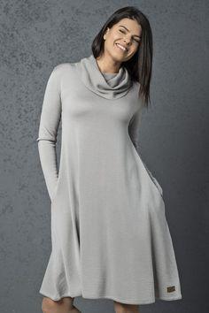 Merino wool dress/ knitted dress /knitted merino wool dress/ grey dress /stylish dress / merino dress/ merino wool dresses / midi dress/ - Grey Dresses - Ideas of Grey Dresses Knitted Coat, Merino Wool Sweater, Wool Cardigan, Wool Sweaters, Grey Sweater, Grey Dresses, Grey Midi Dress, Stylish Dresses, Wool Dress
