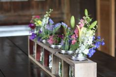 Creating A Mason Jar Centerpiece From Old Barn Wood Or Pallets