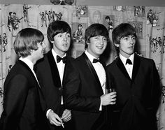 """THE BEATLES AT THE PREMIERE OF """"A HARD DAY'S NIGHT"""". 6 Jul 1964 Picture: HARRY MYERS/REX/Shutterstock"""