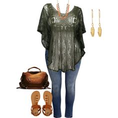 """plus size bohemian spring"" by kristie-payne on Polyvore"
