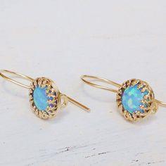 Blue opal earrings,opal earrings,Blue opal,gift #jewelry #earrings @EtsyMktgTool http://etsy.me/2lJmSXn