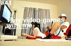 This is something I ATEMPT to do lol.  Derek is very patient with me because I'm awful at almost all video games. However,  this a lesson to all girls, guys don't care if your good at video games or if you'll make them lose if you play and your awful, all they truly care about is that you just spend the time with him trying something he loves, after all the countless shopping trips and stuff he does just for you :)