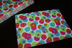new item...bright flower felt sheets.  3 pk for only 3.30 or bulk 12 for only $1.00 each.  Made in the USA