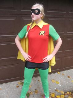 DIY Superhero Costume : DIY Robin Costume--as in Batman and... : DIY Halloween @Heather Creswell Creswell Creswell Marie