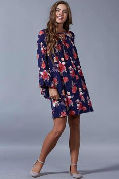 b732d545d1 We call this cute dress Flawless Floral. It comes in sizes Small-Medium-