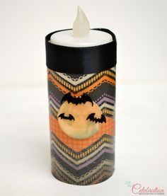 """Halloween Toilet Paper Roll """"Candles"""" - fun, fast and cheap! #crafts #Halloween"""