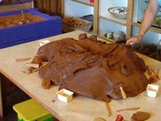 clay table at Roseville Community Preschool communiti preschool, clay explor