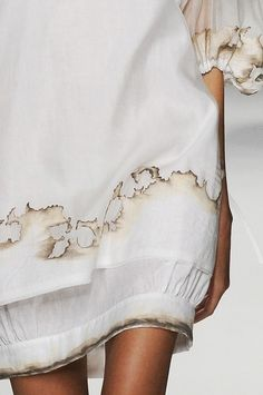 Burnt paper-look dress