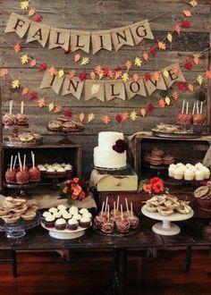 fall wedding | food bar decor