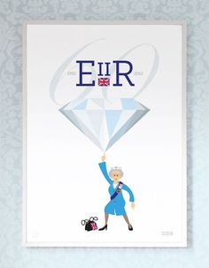 Queen's Diamond Jubilee Print by Showler and Showler