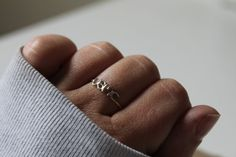 Tiny Military Branch Ring  Sterling Silver by NBOJewelry on Etsy, $25.00
