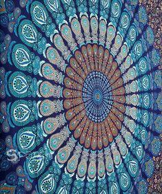 Mandala tapestry , mandala wall hanging , beach throw , indian tapestry