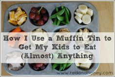 How I Use a Muffin Tin to Get My Kids to Eat (Almost) Anything - Red and Honey