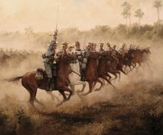 Ferrer-Dalmau, Spanish Cavalry about to charge, Spanish-American War, Cuba 1898 The Spanish American War, American Civil War, Military Art, Military History, Cuba, Civil War Photos, Spanish Artists, Historical Art, Le Far West