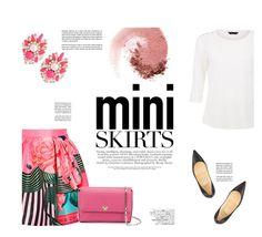 """Mini Me: Cute Skirts"" by katsin90 ❤ liked on Polyvore featuring NARS Cosmetics, Mary Katrantzou, Valextra, Christian Louboutin, Avenue and MINISKIRT"